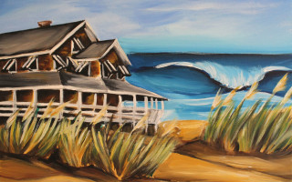 Buchanan Cottage No. 2 11x14 Acrylic on Canvas by Barbara Noel