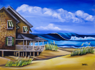"Buchanan Cottage No 06 24"" by 18"" Oil Painting by Barbara Noel"