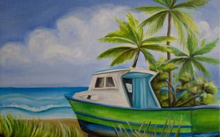 BNoel_14x11_BarbadosBoat_6-6-16